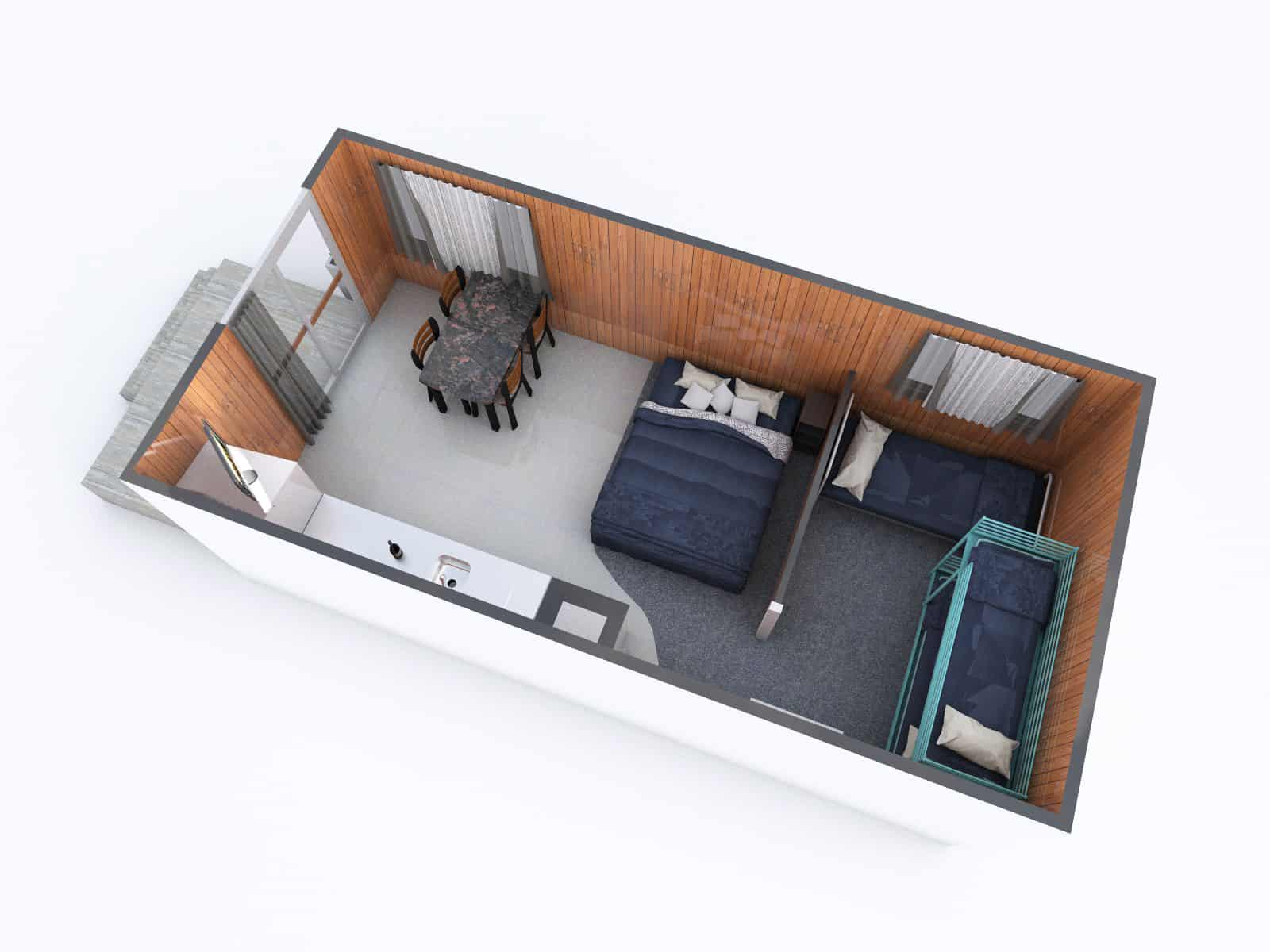 Deluxe Family Cabin Floorplan