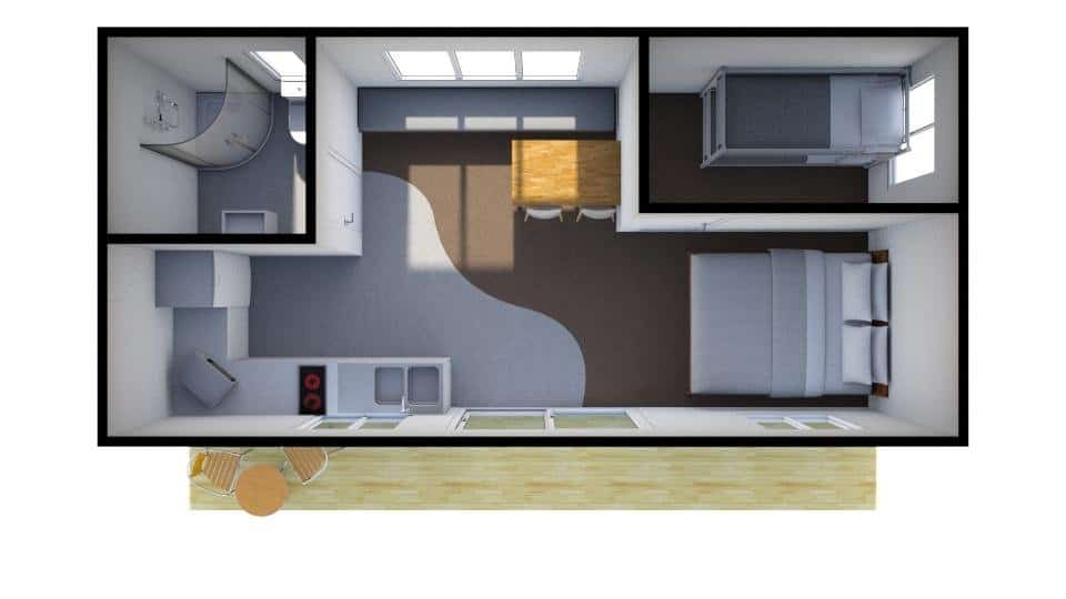 Self Contained Family Unit Floorplan