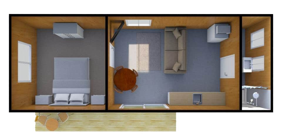 Self Contained Unit Floorplan